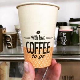 Крафтовые (бамбуковые) бумажные стаканчики -новый дизайн.