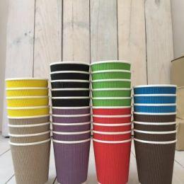 Стаканы гофрированые цветные