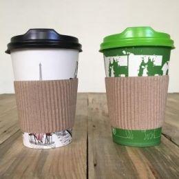 Бумажные стаканчики для кофе, крышки и термо пояски